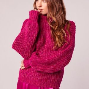 NWT Band of Gypsies Sorbet Sweater Hot Pink Small